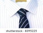 decent shirt with tie close up. | Shutterstock . vector #8395225