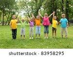 group of children having fun... | Shutterstock . vector #83958295