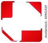 red vector corner ribbons | Shutterstock .eps vector #83961529