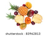exotic diet food   set of lot... | Shutterstock . vector #83962813