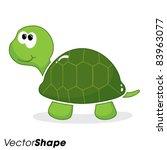 Happy Little Cartoon Turtle...