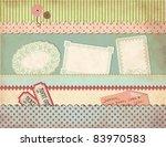 grungy vintage scrapbook set  ... | Shutterstock .eps vector #83970583