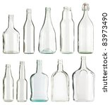 Empty Glass Bottles Collection...
