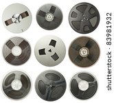 vintage magnetic audio reels...   Shutterstock . vector #83981932