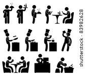 man people restaurant waiter... | Shutterstock . vector #83982628