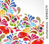 floral and ornamental item... | Shutterstock . vector #83983579