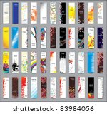 collection vertical banners | Shutterstock .eps vector #83984056