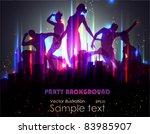 party background. vector... | Shutterstock .eps vector #83985907