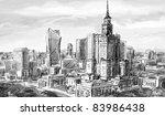 illustration sketch . street  ... | Shutterstock . vector #83986438
