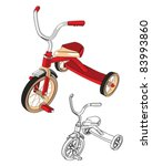 tricycle | Shutterstock .eps vector #83993860