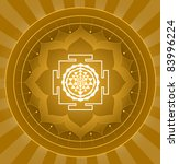 spiritual shree yantra lotus... | Shutterstock .eps vector #83996224