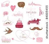 romantic wedding design...   Shutterstock .eps vector #84005455