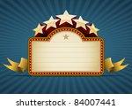 show banner on blue. all... | Shutterstock .eps vector #84007441