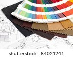 color samples of architectural... | Shutterstock . vector #84021241