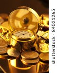 gold watches  coins  gears and... | Shutterstock . vector #84021265