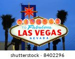 las vegas city welcome sign at... | Shutterstock . vector #8402296