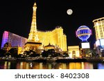 Las Vegas Strip Night Scene