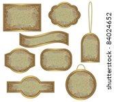 vintage labels with golden... | Shutterstock .eps vector #84024652