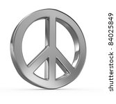 peace sign on white isolated... | Shutterstock . vector #84025849