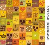 seamless coffee wallpaper.... | Shutterstock .eps vector #84035371
