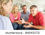 mid age couples chatting at home | Shutterstock . vector #84043273