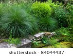 Beautiful Garden. Green Lawn I...