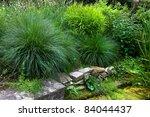 Beautiful Garden. Green Lawn I...