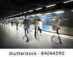 Blurred People On Subway...