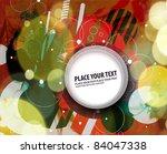abstract retro technology... | Shutterstock .eps vector #84047338