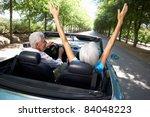 senior couple in sports car | Shutterstock . vector #84048223