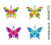 set vector butterfly | Shutterstock .eps vector #84048772