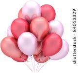 balloons party birthday pink... | Shutterstock . vector #84053329