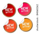 new arrival stickers | Shutterstock .eps vector #84060262