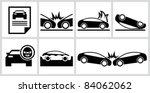 car insurance icons set. all... | Shutterstock .eps vector #84062062