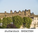 Small photo of Carcassonne is a fortified french town in the Aude department.Carcassonne became famous in its role in the Albigensian Crusades, when the city was a stronghold of Occitan Cathars.