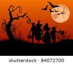 halloween background with... | Shutterstock .eps vector #84072700