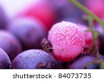 Macro View Of Frozen Berries ...