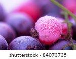 macro view of frozen berries ... | Shutterstock . vector #84073735