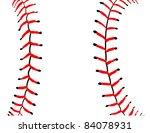 baseball seams close up detail  ...   Shutterstock .eps vector #84078931