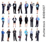 large group of smiling business ... | Shutterstock . vector #84084307