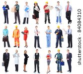 large group of smiling business ... | Shutterstock . vector #84084310