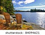 Adirondack Chairs At Shore Of ...