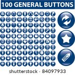 100 general buttons  icons ...
