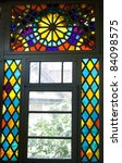 Stained Glass Window In Old...