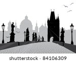 Prague Vector Illustration