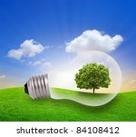 Eco Concept  Green Tree Growin...
