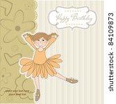 sweet girl birthday greeting... | Shutterstock .eps vector #84109873