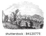 perugia in umbria  italy ... | Shutterstock .eps vector #84120775