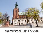 Cathedral Basilica of the Assumption of the Blessed Virgin Mary and St. Adalbert - stock photo