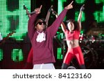 Small photo of SACRAMENTO, CA - SEPT 3: Lil Wayne performs at Sleep Train Amphitheater on September 3, 2011 in Wheatland, California.